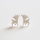 Deer Princess Earrings - 925 Sterling Silver - Owl J  - 2