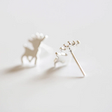 Deer Princess Earrings - 925 Sterling Silver - Owl J  - 3