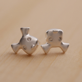 Happy Dog Earrings - 925 Sterling Silver - Owl J  - 3