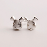 Happy Dog Earrings - 925 Sterling Silver - Owl J  - 2