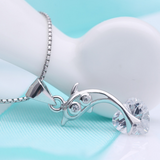Jumping Dolphin Necklace  - 925 Sterling Silver - Owl J  - 2