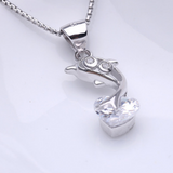 Jumping Dolphin Necklace  - 925 Sterling Silver - Owl J  - 4