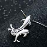 Dolphin Lovers Necklace - 925 Sterling Silver - Owl J  - 3