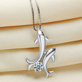 Dolphin Lovers Necklace - 925 Sterling Silver - Owl J  - 4