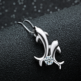 Dolphin Lovers Necklace - 925 Sterling Silver - Owl J  - 2