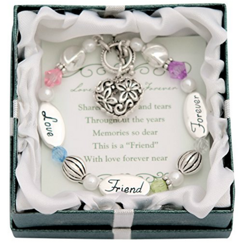Foverever Friend Heart Charm Bracelet - Owl J