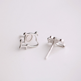 Funny Dog Stud Earrings  - 925 Sterling Silver - Owl J  - 2