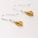 Golden Rose Earrings - 925 Sterling Silver - Owl J  - 3