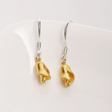 Golden Rose Earrings - 925 Sterling Silver - Owl J  - 2