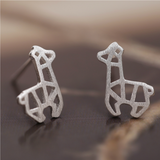 Cute Llama Alpaca Stud Earrings - 925 Sterling Silver - Owl J  - 1