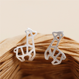 Cute Llama Alpaca Stud Earrings - 925 Sterling Silver - Owl J  - 2