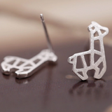Cute Alpaca Stud Earrings - 925 Sterling Silver - Owl J  - 3