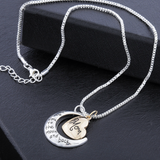 I Love You To The Moon And Back Mom Necklace - Owl J  - 5