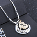 I Love You To The Moon And Back Mom Necklace - Owl J  - 6