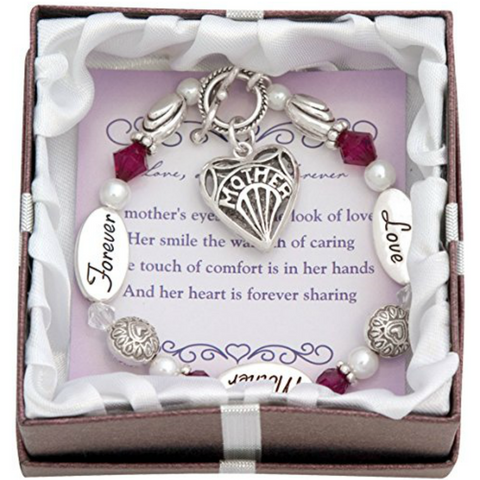 Mother Heart Charm Bracelet - Owl J