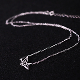 Origami Crane Necklace  - 925 Sterling Silver - Owl J  - 4