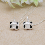 Cute 3D Panda Pendant Necklace - 925 Sterling Silver - Owl J  - 4