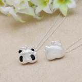 Cute 3D Panda Pendant Necklace - 925 Sterling Silver - Owl J  - 5