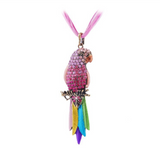 Retro Rhinestone Parrot Necklace - Owl J  - 11