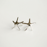 Starfish Earrings - 925 Sterling Silver - Owl J  - 1
