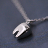 Lovely Tooth Necklace - 925 Sterling Silver - Owl J  - 3