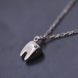 Lovely Tooth Necklace - 925 Sterling Silver - Owl J  - 4