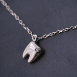 Lovely Tooth Necklace - 925 Sterling Silver - Owl J  - 1