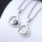 Triple Hearts Necklace - 925 Sterling Silver - Owl J  - 4