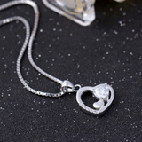 Triple Hearts Necklace - 925 Sterling Silver - Owl J  - 3