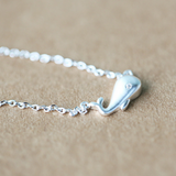 Silver Whale Necklace  - 925 Sterling Silver - Owl J  - 5