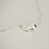 Silver Whale Necklace  - 925 Sterling Silver - Owl J  - 3