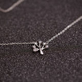 Wish Tree Necklace - 925 Sterling Silver - Owl J  - 1