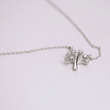 Wish Tree Necklace - 925 Sterling Silver - Owl J  - 4