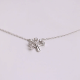 Wish Tree Necklace - 925 Sterling Silver - Owl J  - 3