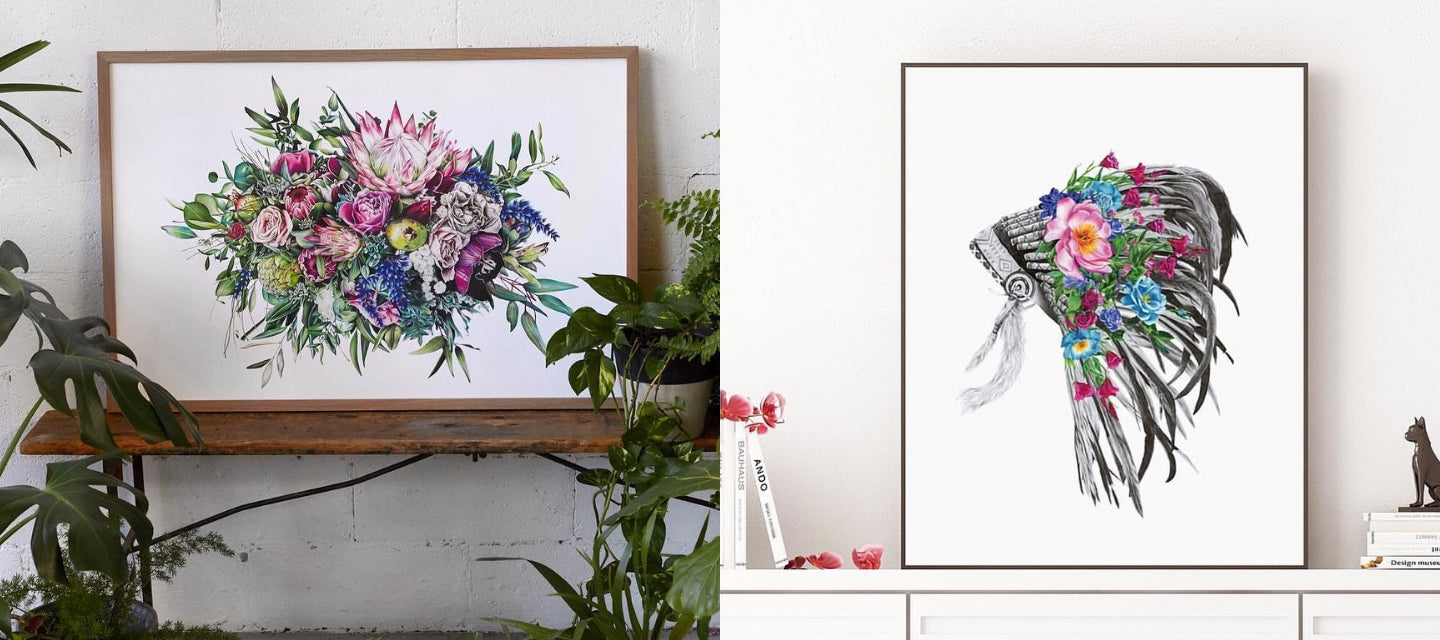 Floral illustration by the talented McMurtrie Illustrations