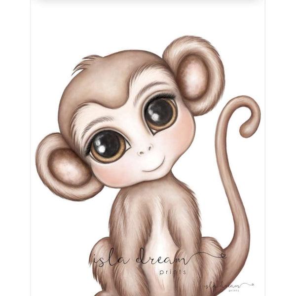 Abu the Monkey by Isla Dream, Australian art print, Green Door Decor, greendoordecor.com.au