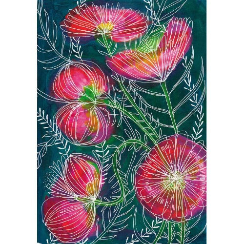 Always Flowers - unframed - by Paula Mills Art. Australian Art Prints. Green Door Decor. www.greendoordecor.com.au