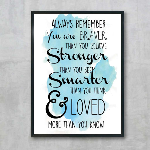 Always Remember - Teal, by Skart & Savvy Designs. Australian Art Prints. Green Door Decor.  www.greendoordecor.com.au