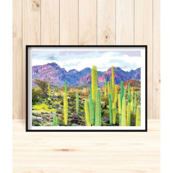 Arizona Desert, by Design Mondo. Australian Art Prints. Green Door Decor. www.greendoordecor.com.au