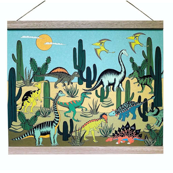 Art Hanger 'Dino Desert' by Dino Raw. Australian Art Prints. Green Door Decor. www.greendoordecor.com.au