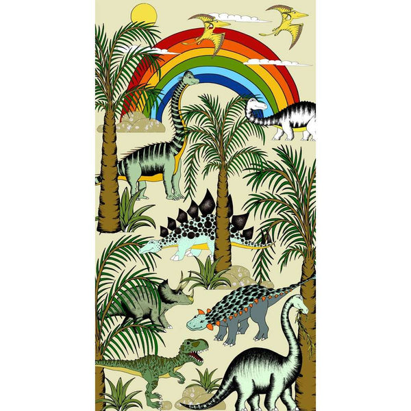 Art Hanger 'Dinosaur Jungle Adventures-Rainbow' by Dino Raw. Australian Art Prints. Green Door Decor. www.greendoordecor.com.au