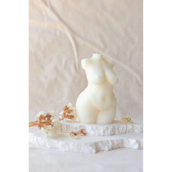 Athena Ivory Female Body Candle. Australian Art Prints and Homewares. Green Door Decor. www.greendoordecor.com.au
