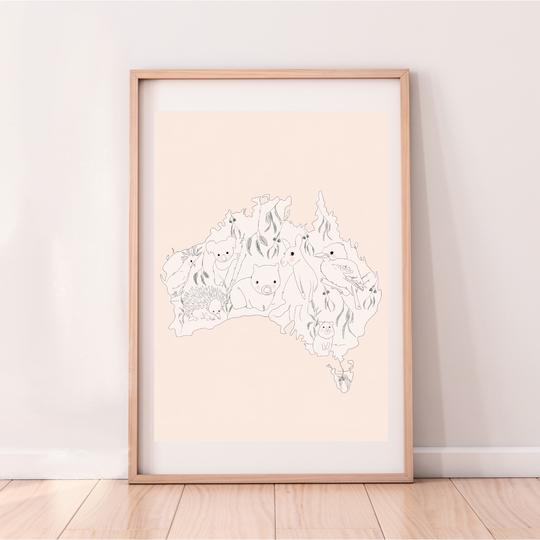 Australia - Nude print, by My Hidden Forest. Australian Art Prints. Green Door Decor.  www.greendoordecor.com.au