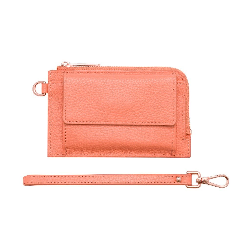 Peach/Rose Gold Mighty Mini Wallet by Bon Maxie. Australian Art Prints and Homewares. Green Door Decor. www.greendoordecor.com.au