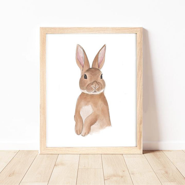 Baby Rabbit Print by Cassie Zaccardo. Australian Art Prints and Homewares. Green Door Decor. www.greendoordecor.com.au