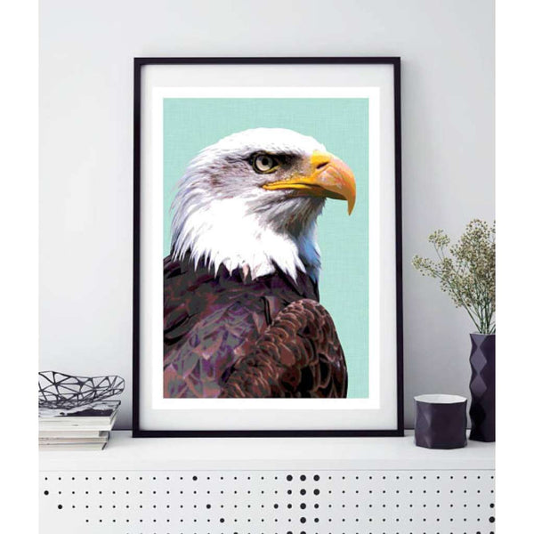 Bald Eagle, by Design Mondo. Australian Art Prints. Green Door Decor. www.greendoordecor.com.au