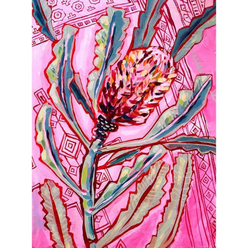 Banksia on Persian No. 1 Unframed by Paula Mills. Australian Art Prints. Green Door Decor. www.greendoordecor.com.au