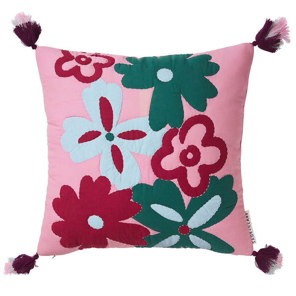 Beatrice Quilted Cushion by Sage and Clare. Australian Art Prints and Homewares. Green Door Decor. www.greendoordecor.com.au