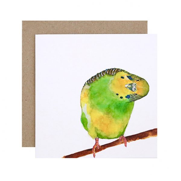 'Berty' Greeting Card by For Me By Dee, Australian Art Prints. Green Door Decor. www.greendoordecor.com.au