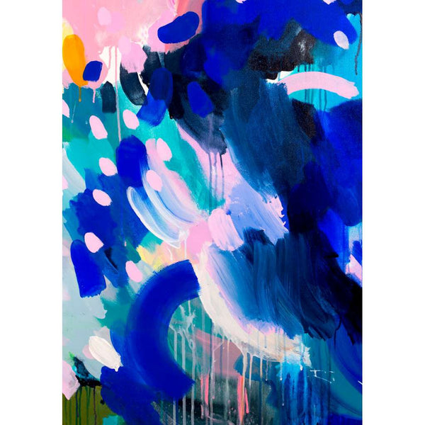 Blue 2 print, by Shannon O'Neill. Australian Art Prints. Green Door Decor. www.greendoordecor.com.au